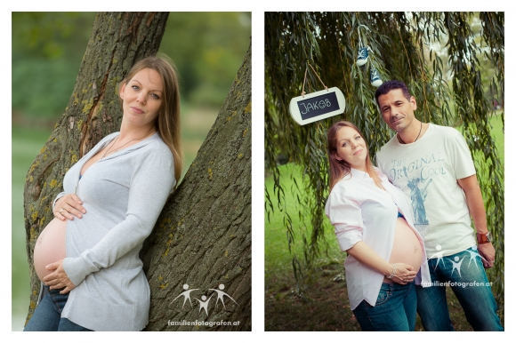 Outdoor Babybauch Fotos