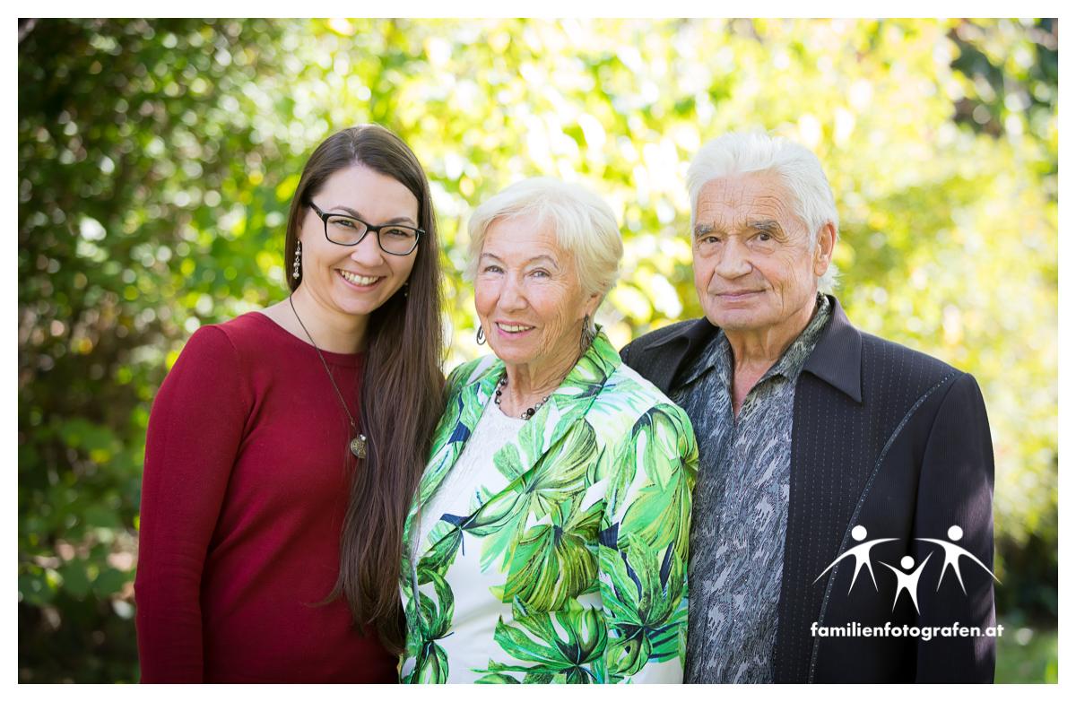 Familienfotos mit Grosseltern zum Geburtstag als Geschenk