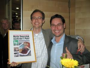 Martin Dworschak und Roman Schmauser bei der Siegerehrung des Wiener Fotomarathons 2009
