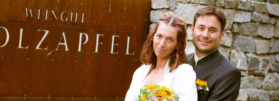 Hochzeitsfotos Weingut Holzapfel